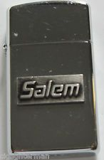 1991 Zippo Slim Lighter Salem Cigarettes Has A Great Spark