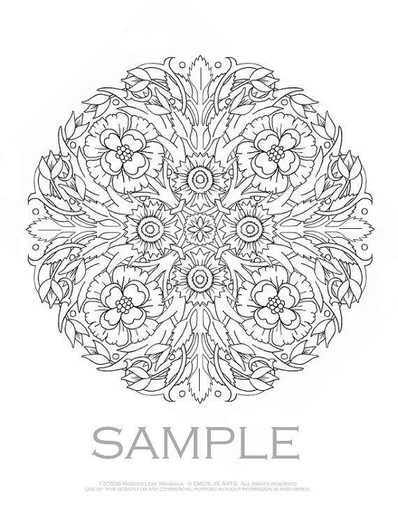 Mandalas Adult Coloring Pages
