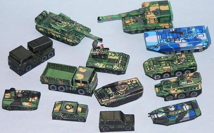 People's Liberation Army Set for Wargame Free Paper Models Download