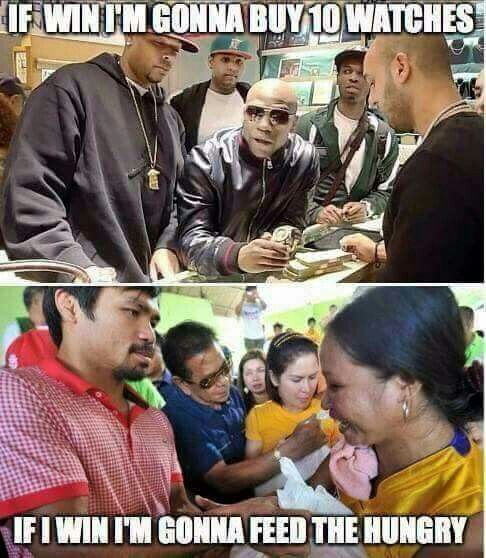 Manny Pacquiao  vs Mayweather