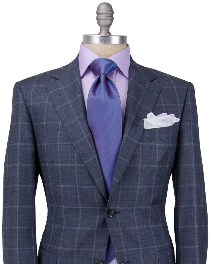 Canali Grey Windowpane Suit Apparel Men S