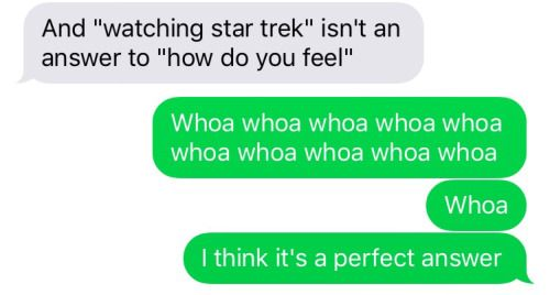 'scuse you i am a happy trekkie and i don't approve of this harsh judgement.