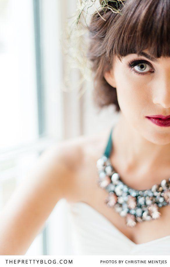 Plum lips  striking eye make-up | Photo: @Christine Meintjes Make-up: @Alicia T Buckle Neckpiece: Lulu Belle