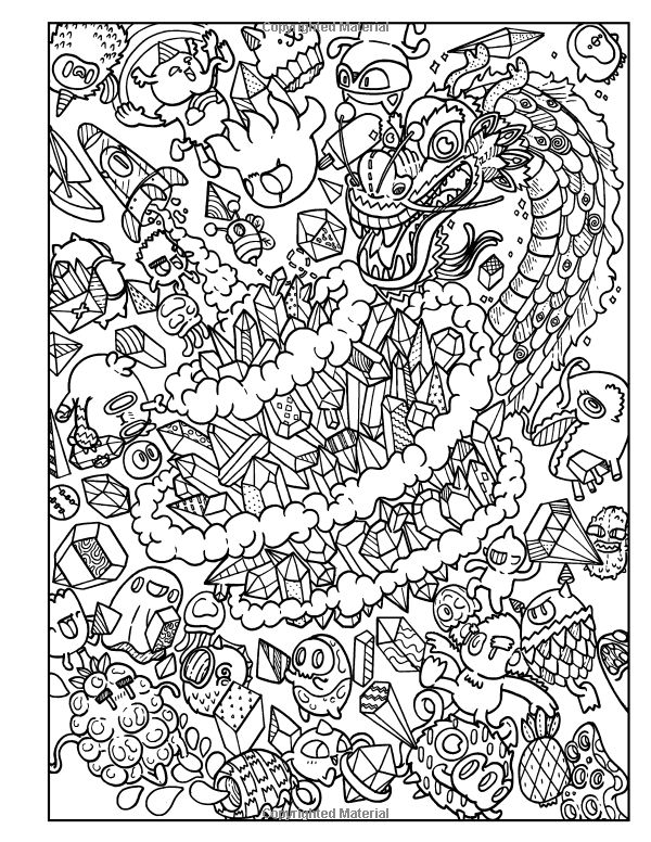Amazon.com: Doodles in Outer Space - Adult Coloring Books ...