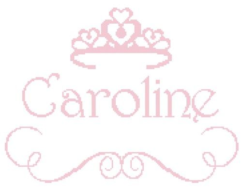 This Beautiful Princess Name with crown wall art with that special little girl's name included is sure to bring a sparkle to any little girl's eye.  Please enjoy this pattern for your own personal use