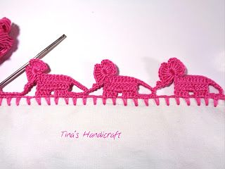 Tina's handicraft : crochet trimmings baby elephant
