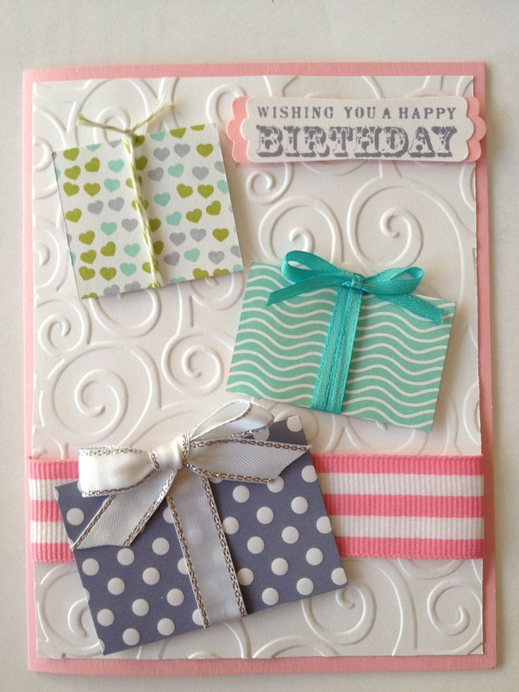 Stampin' Up Handmade Birthday Card... Stamp by Mail Project - kristenmkhan@gmail.com.  Picture only for inspiration.