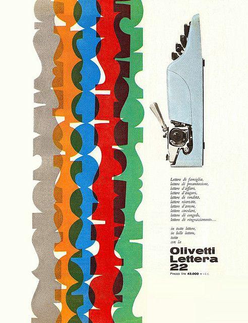 Olivetti Lettera 22 Advertising designed by Giovanni Pintori for the Olivetti Lettera 22