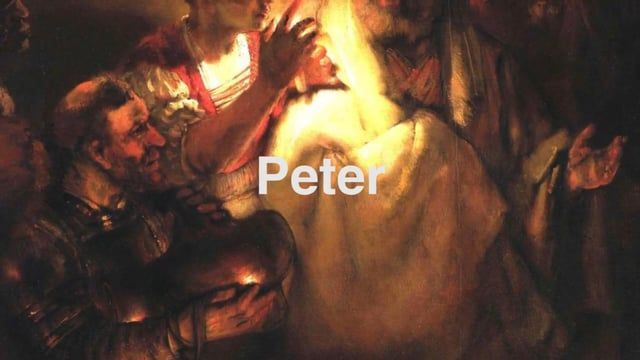 In this message we're going to enter into the very uncomfortable story of Peter's denial of Jesus.