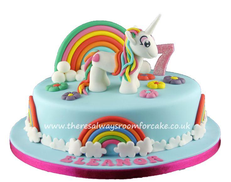 Unicorn & Rainbows Birthday Cake