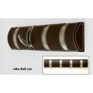 Perchero pared ganchos plegables (retractiles) en color marrón, práctico. #Novedades