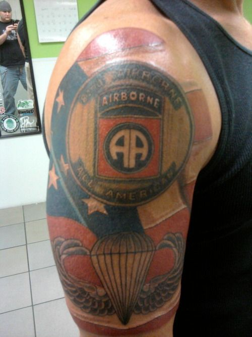 Airborne tattoos on Pinterest | Us Army, Shoulder Armor Tattoo and ...