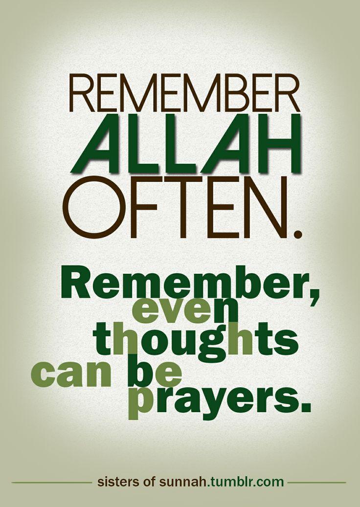 Remember Allah often