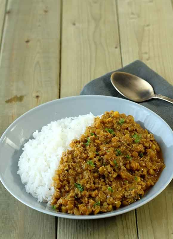 ヨーグルト×乾物レシピ レンズ豆のカレー