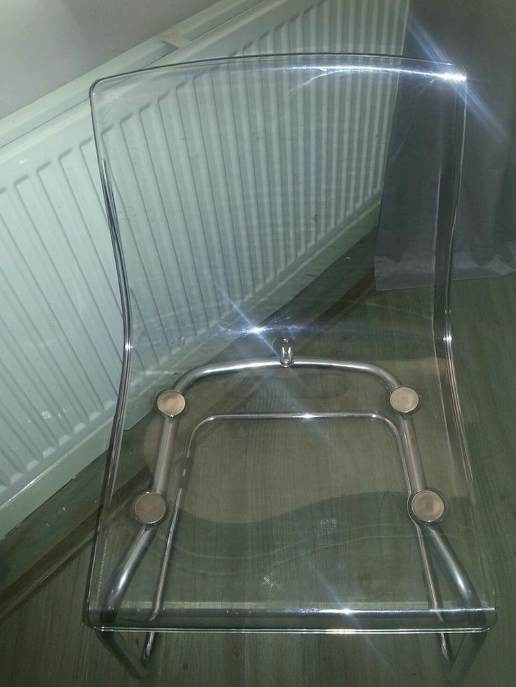 Clear ghost chairs x4