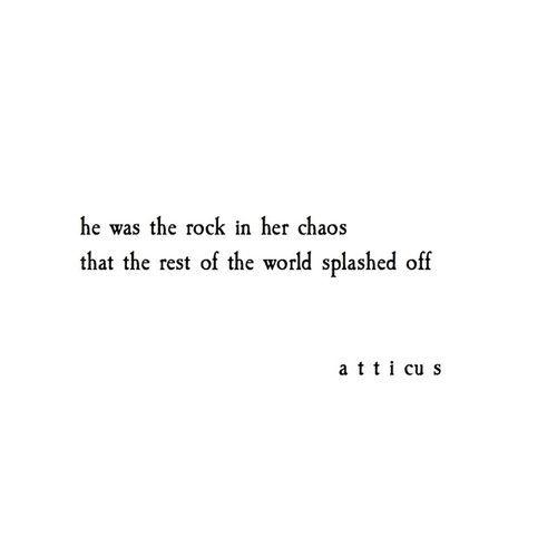 ˚°◦ღ...He was the rock in her chaos...