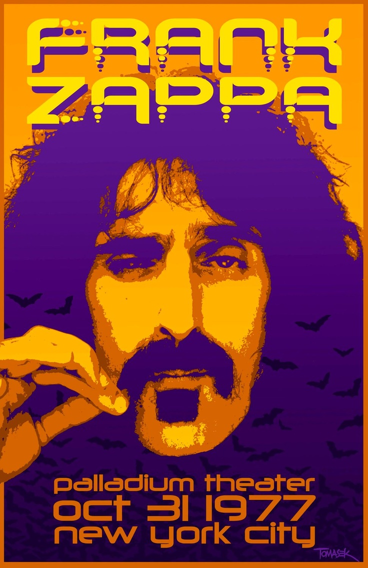 Image result for frank zappa the palladium shows 1977