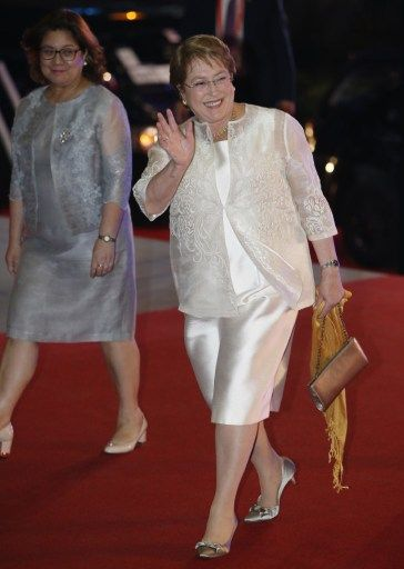 Michelle Bachelet in Barong Tagalog Manila - Google Search