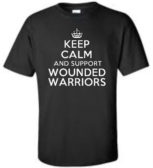 Wounded Warrior Project Tee Shirts | ... Calm and Support Wounded Warriors Mens T Shirt Tee More Colors | eBay