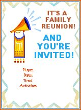 14 best images about family events flyers on pinterest for Reunion banners design templates