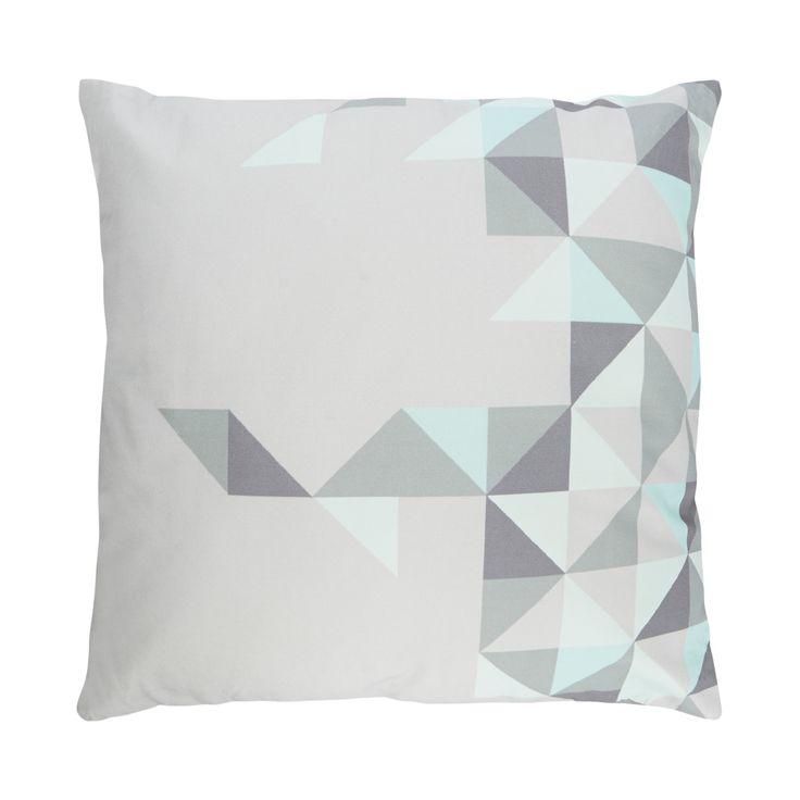 Bloomingville Grey triangles cushion- at Debenhams.com £15