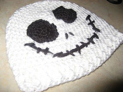 jack skellington hat- also have a black beanie with a white face attached