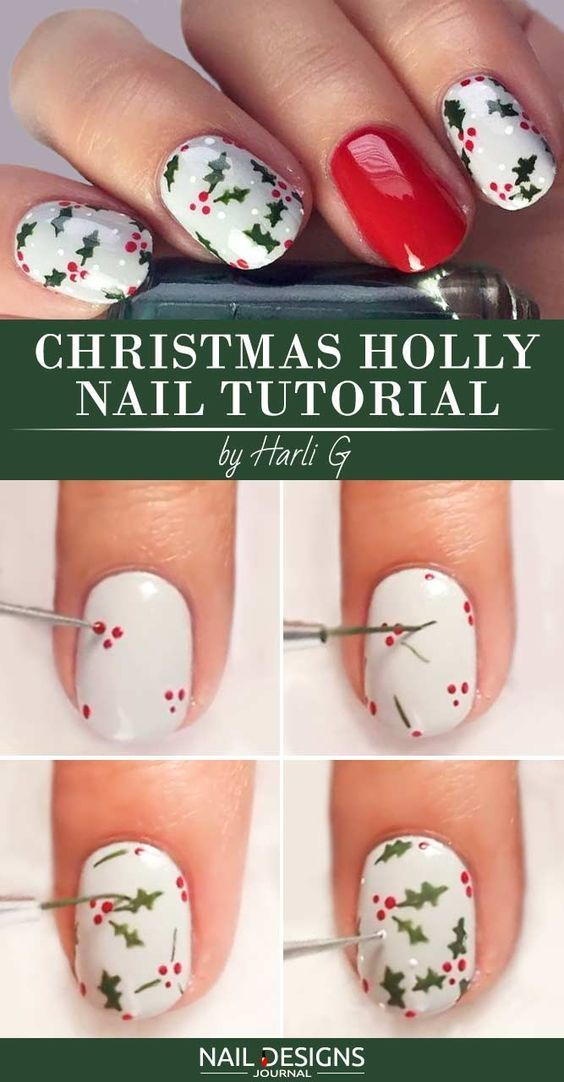 Christmas Nail Art Tutorial That Is Easy To Follow