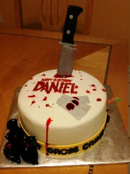 Incredible Dexter inspired cake!