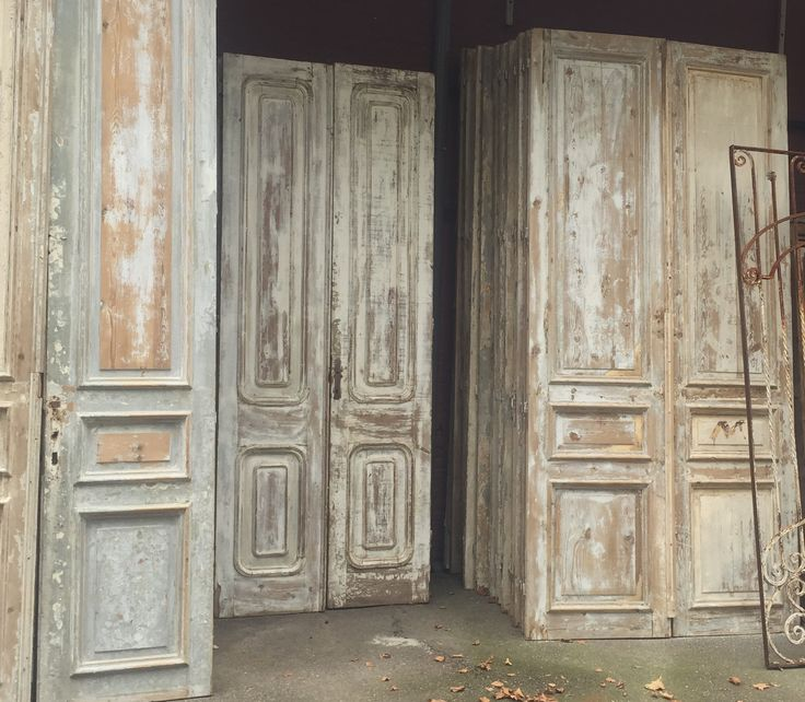 Old vintage antique doors architectural antiques @pietjonker.com Stripped paint