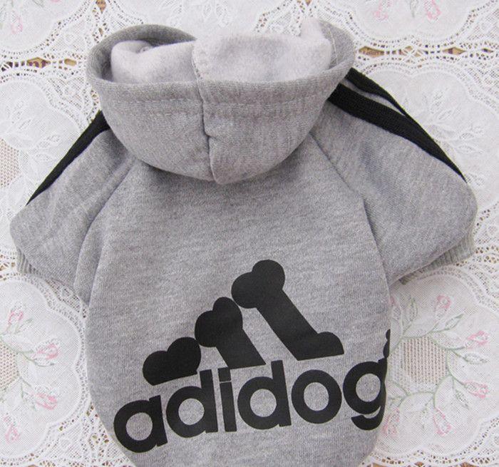 6 цветов фирменное наименование adidogs одежда много для маленькие собаки балахон свитер зима для домашнее животное собаки 100% хлопок спортивная одежда домашнее животное магазин