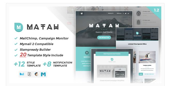 The 26 Best Beautiful Mailchimp Email Templates Images On Pinterest