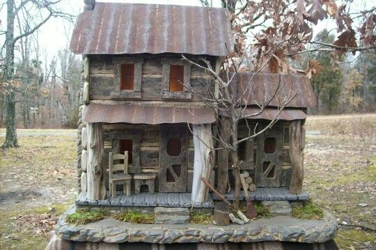 Barnwood log cabin