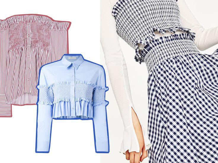 fashion trend smocked tops zieren jetzt wieder bikinis. Black Bedroom Furniture Sets. Home Design Ideas