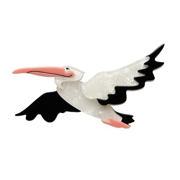 """Erstwilder Collectible Legendary Long-Bill Brooch. """"With a beak that's as big as can be, to swallow fish whole you see,and wings to traverse sky and sea."""""""
