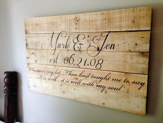 Placa de recién casados.