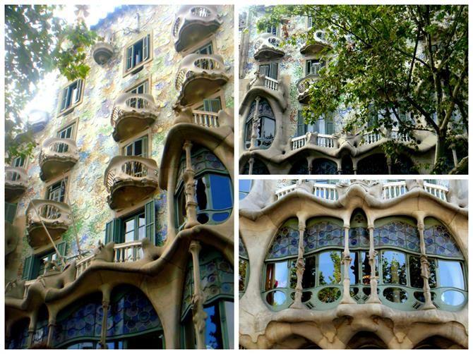 Façade de la Casa Batlló à Barcelone, Catalogne (Espagne)
