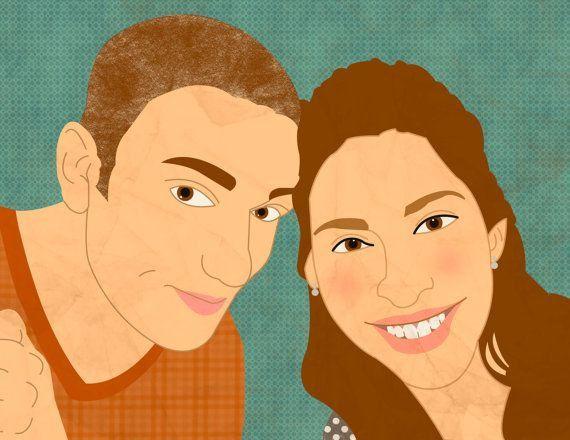 Custom portrait couple portrait family portrait female by catbrush