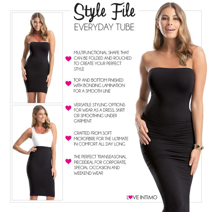 Worn as a skirt, top or dress, the Everyday Tube brings you the ultimate in wardrobe versatility! Comfortable, stylish and easy to wear, you'll never want to take it off! www.intimo.com.au/shop/item/everyday-tube-black