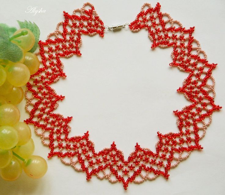 Free pattern for beaded necklace Selena   Beads Magic