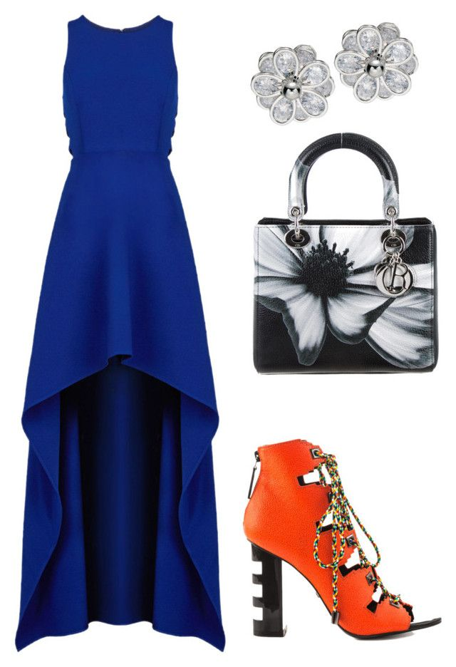 graduacion by luziagalvang on Polyvore featuring moda, BCBGMAXAZRIA, Kat Maconie and Christian Dior
