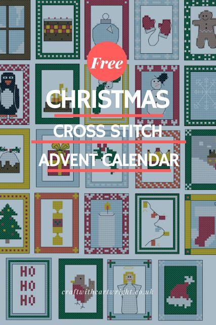 Free Cross stitch advent calendar.