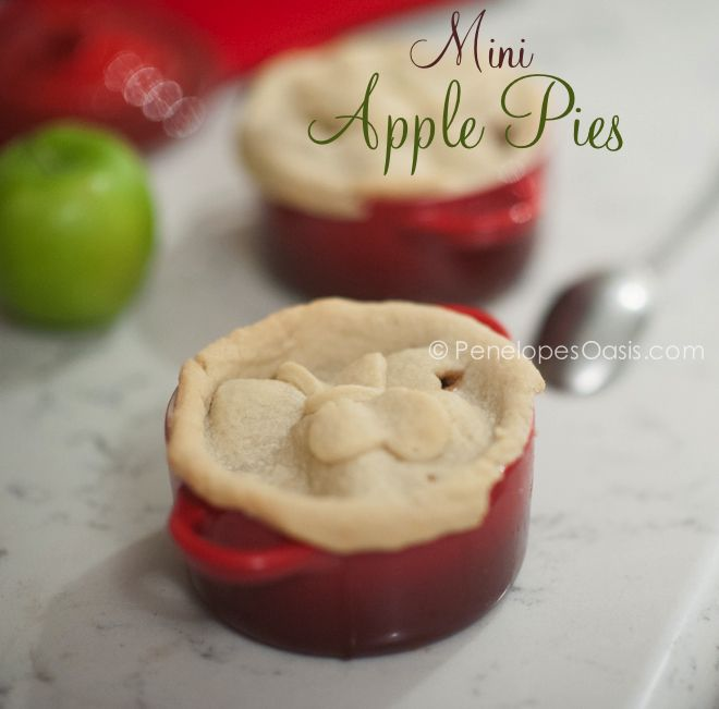 Individual Apple Pies in Le Creuset Mini Cocottes - Penelope's Oasis