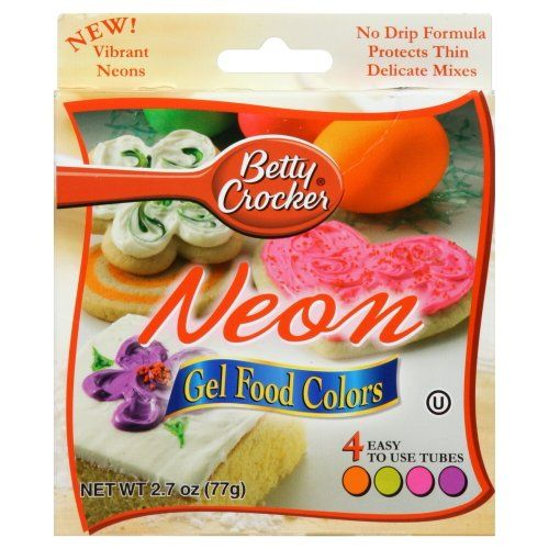 Neon food coloring!