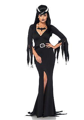 Sexy Kostüm Untote Vampir Morticia komplett inkl. Perücke Leg Avenue Halloween