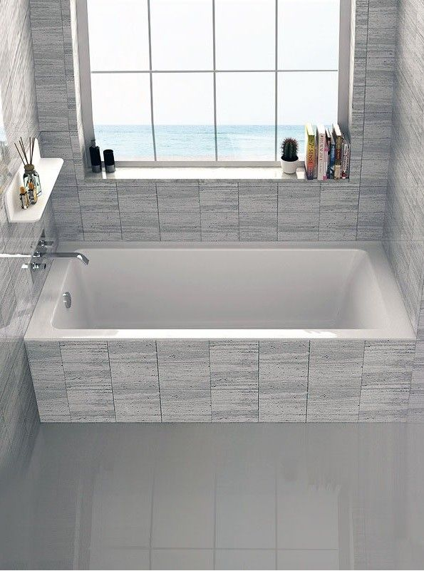 25 best ideas about drop in bathtub on pinterest drop for Deep alcove tub