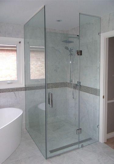 Euro shower door floor to ceiling glass house pinterest for Floor to ceiling glass