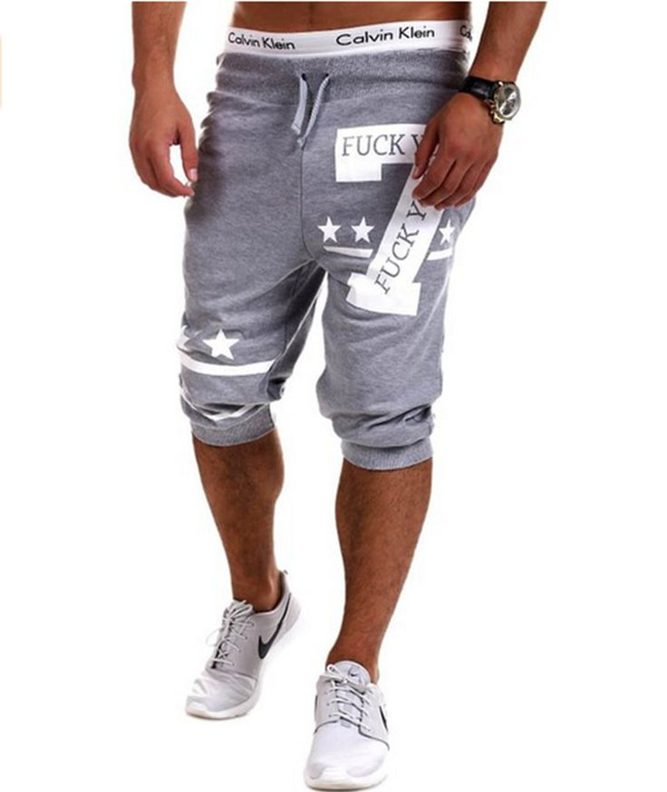 New Fashion Leisure Sport Mens Shorts Casual Trousers Elastic Brand Jogger Shorts Men Sports Fitness Short Pants Outer Wear