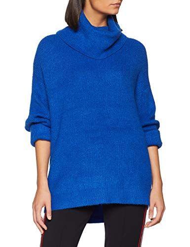 836b18729564 Esprit 098ee1i029 Pull Femme Bleu (Bright Blue 410) Large
