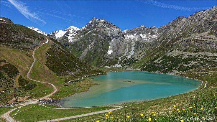 Rifflsee im Pitztal auf 2232m Seehöhe (Tirol), DxO - dieser wunderschöne Gebirgssee liegt umgeben von vielen 3000er Gipfel in den Ötztaler Alpen