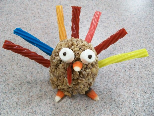 Rice Crispie Turkey - This year I am doing an animal theme for my Wednesday night cooking activities. I thought this would be perfect for fall.